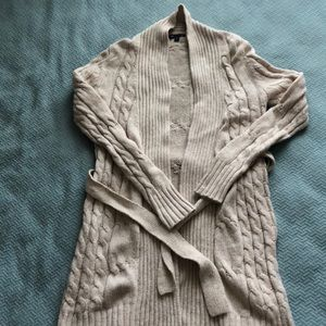 Gap | Cream Cable Knit Duster Cardigan